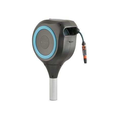 Dévidoir automatique sur pic RollUp M 20 m - GARDENA (Bleu turquoise)