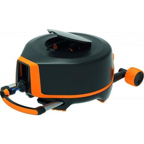 Dévidoir automatique XL tout en un avec roues, tuyau 20m + 7m Ø 13mm, utilisation horizontale à 360°