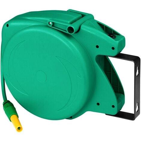 Dévidoir avec tuyau d'arrosage pivotant vert 10 m - Vert