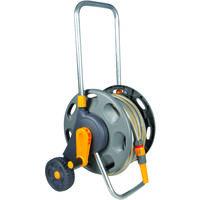 Dévidoir d'arrosage sur roues équipé tuyau Ø15mm longueur 30m – Non assemblé – Hozelock 2487R9012 - Garantie 5 ans