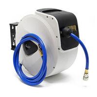 Dévidoir de tuyau à air comprimé 15m Automatique Enrouleur pneumatique