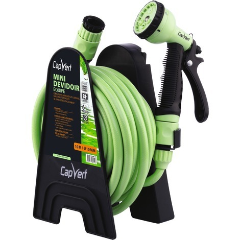 Dévidoir de tuyau d'arrosage portable équipé - Cap-vert