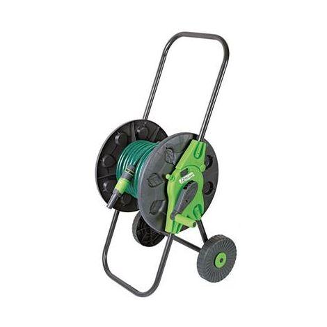 Devidoir de tuyau de jardin sur roue avec 20m de tuyau