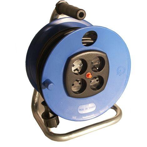 Dévidoir manuel câble électrique 25m 3G1.5 H05VV-F