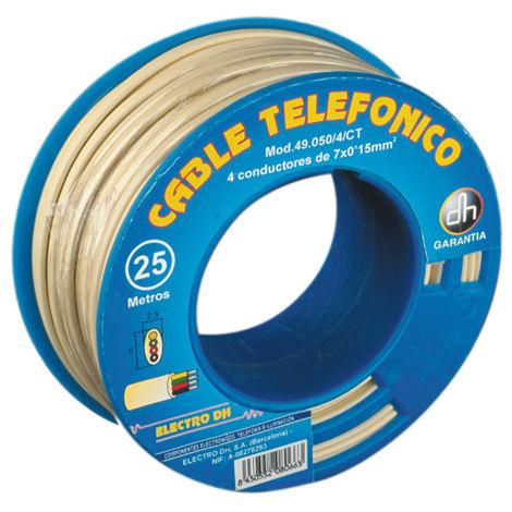 Dévidoir pour câble téléphonique 100 Electro Dh 49.050/4/4/M, couleur ivoire, 843055202031993