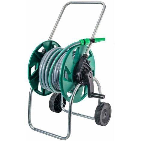 Dévidoir sur roues avec tuyau 15 mm 20 m