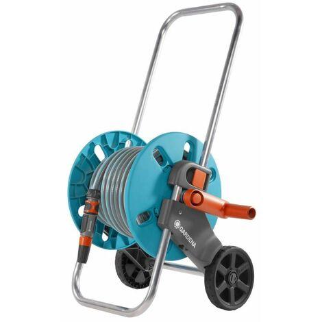 Dévidoir sur roues équipé Aquaroll S - équipé avec 25 m de tuyau - ø int. 13mm - poignée télescopique