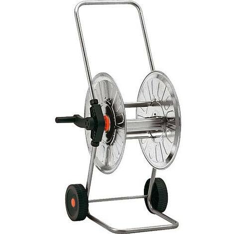 """Dévidoir sur roues Karasto standard acier galva - roues matière plastique sortie tuyau 3/4"""""""