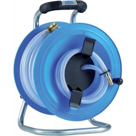 Dévidoir tuyau d'air comprimé 20m plastique 12bar Hedi