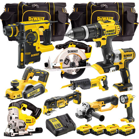 DeWalt 10 Piece 18V Li-Ion Monster Kit 4 x 5.0Ah Batteries & Charger