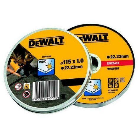DeWALT 10 x Disque à tronçonner 115 mm x 1.0 mm - DT3506-QZ