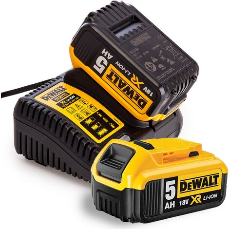 Dewalt 18v 2 x DCB184 5ah Batteries & DCB115 Fast charger Bundle