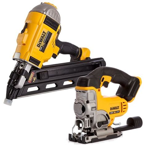 DeWalt 18V 90mm Brushless Framing Nailer & Premium Jigsaw Body Only