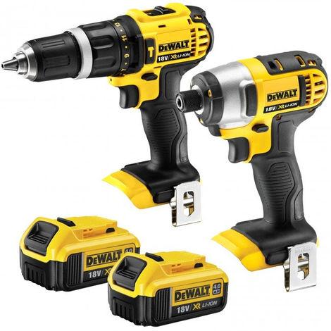 Dewalt 18v Combi Drill Cordless Impact Driver + 2 x 4.0ah Batteries:18V
