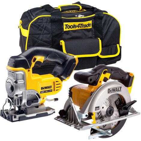 "main image of ""DeWalt 18V Cordless Jigsaw & Circular Saw with Tough System Tool Box:18V"""