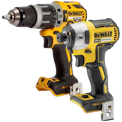 Dewalt 18V LXT Cordless Brushless Impact Driver + Combi Drill Twin Pack