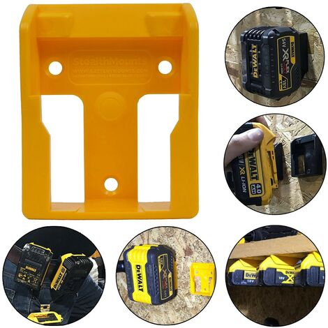 Dewalt 18v XR Flexvolt Battery Mount Yellow Shelf Wall Belt Tstak Case DCB184