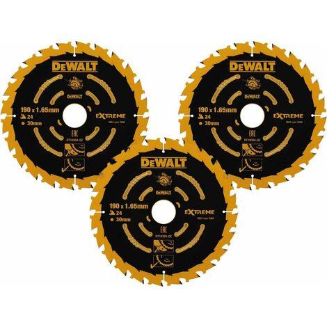 Dewalt 190mm 24T Extreme Framing Circular Saw Blade 3 Pack