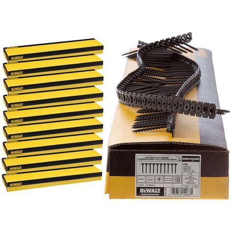 Dewalt 35mm x 3.5mm Coarse Thread Collated Screws X 10,000 Fits DCF620 Makita Fein