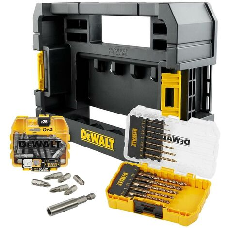 Dewalt 39 Piece EXTREME HSS-G Metal Drill Bit Screwdriver Set Tough Case + Caddy