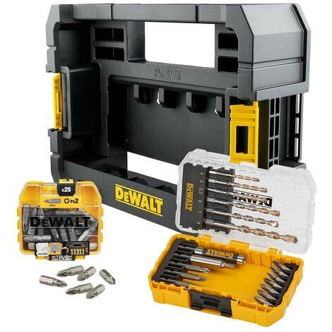 Dewalt 44 Piece EXTREME Masonry Drill Bit Screwdriver Set Tough Case TStak Caddy