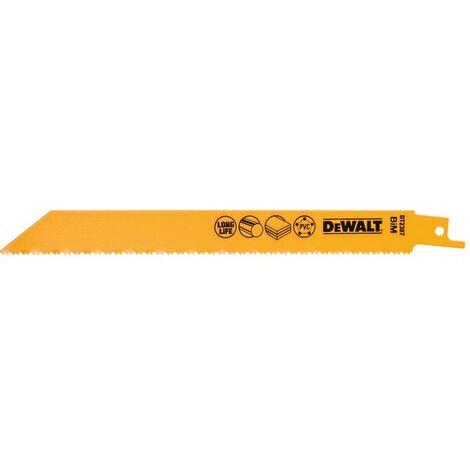 DEWALT - 5 Lames pour scie sabre usage général