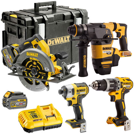 DEWALT 54V Li-Ion 4 Piece Monster Kit with 2 X 6.0Ah Batteries & Charger in CASE:18V