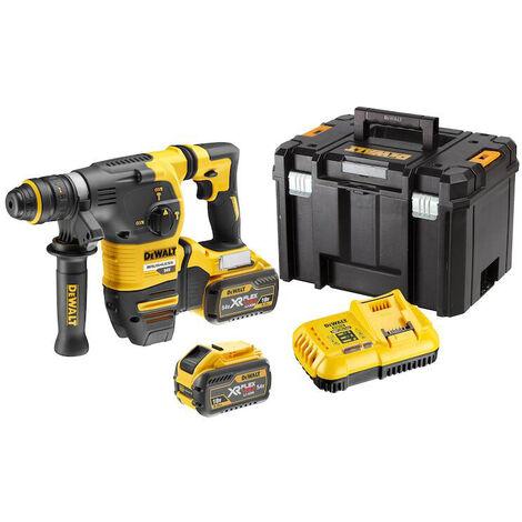 DeWALT 54V Marteau sans fil SDS-plus, 54V incl. 2 Batteries + Chargeur 9Ah - DCH334X2-QW