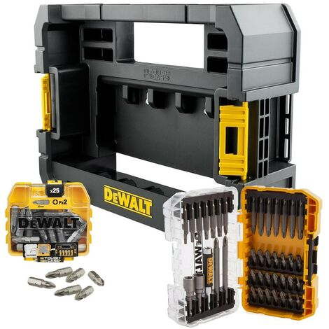 Dewalt 65 Piece Impact Screwdriver Bit Set Tic Tac Box + Tough Case TStak Caddy
