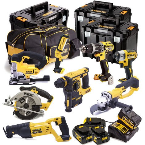 Dewalt 8 Piece Cordless Kit 4 X 4.0AMP Li-ion Batteries