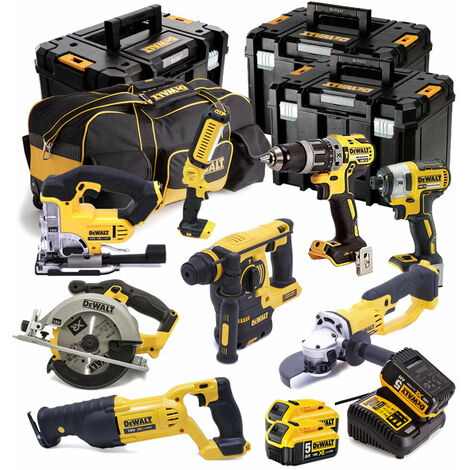 Dewalt 8 Piece Kit 3 X 5.0AMP Li-ion Batteries