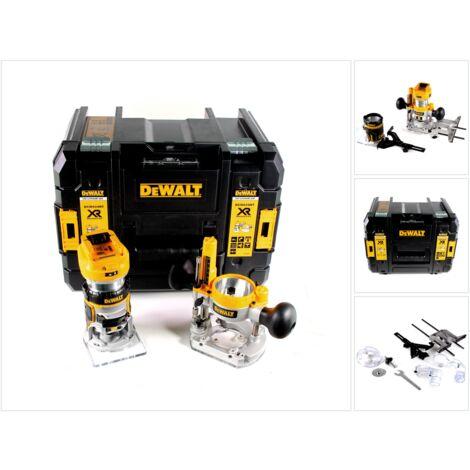 DeWalt DCW 604 NT Affleureuse et Défonceuse sans fil 18V 55mm + Coffret de transport TSTAK VI - sans Batterie, sans Chargeur