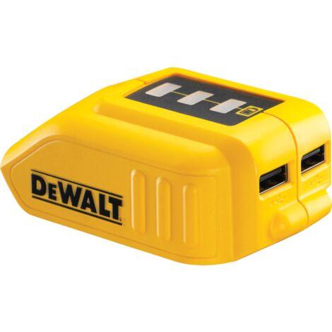 DeWALT Akku-Adapter mit USB-Anschlüssen DCB090, gelb