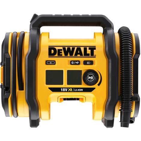 DeWALT Akku-Kompakt-Kompressor DCC018N-XJ, Leistungsstark, Einstellbare Luftdruckanzeige in bar, kPA und PSI, Robustes Gehäuse