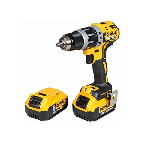 Dewalt Brushless Hammer Drill 18V 1 x 4.0Ah & 1 x 5.0Ah Li-ion