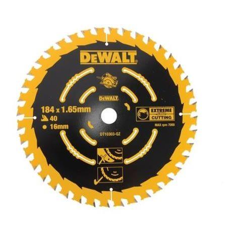 """main image of """"DeWalt Circular Saw Blade 184 x 16mm x 40T"""""""