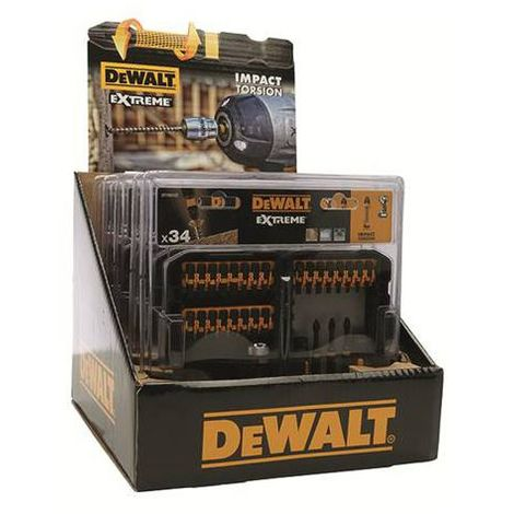 DeWALT Coffret Tough Case IMPACT Torsion 34 pièces - DT70606T-QZ