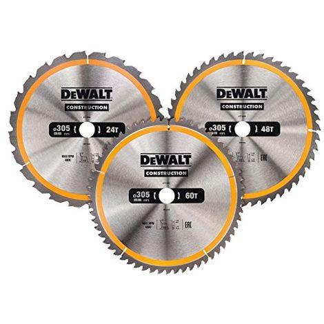 Dewalt Construction Circular Saw Blade 3 Pack 305 X 30mm X 24t/48t/60t