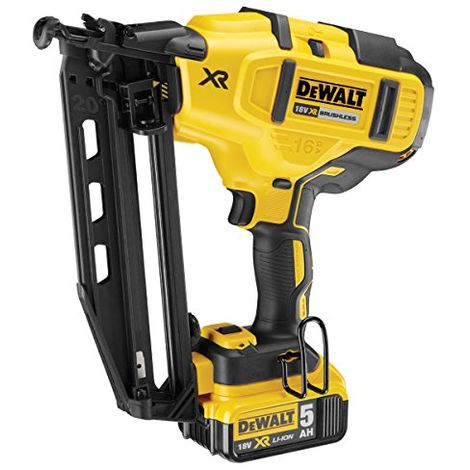 Dewalt Cordless XR Brushless Second Fix Nailer 18V 2 x 5.0Ah Li-Ion