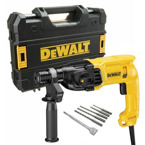 Dewalt D25033K 110v SDS+ SDS Plus Hammer Drill 3 Mode + SDS Bits Chisel + Tstak