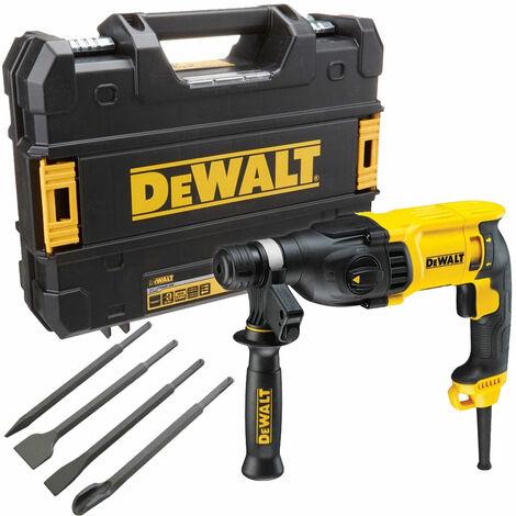 Dewalt D25133K 110V 3 Mode SDS+ Hammer Drill 26mm with 4 Piece Chisel Set