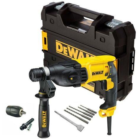 Dewalt D25133K 110v SDS+ 3 Mode SDS Hammer Drill + Bits + Chisel + Chuck + Tstak