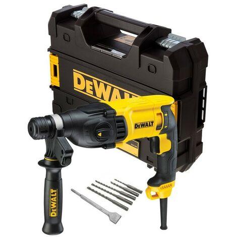 Dewalt D25133K 240v SDS+ 3 Mode SDS Hammer Drill + SDS Bits + Chisel + Tstak