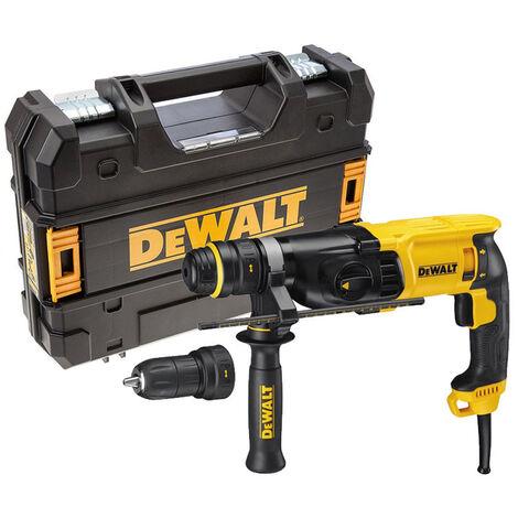 DeWalt D25134K Perforateur-burineur SDS-plus + mandrin interchangeable automatique dans TSTAK - 800W - 2,8J