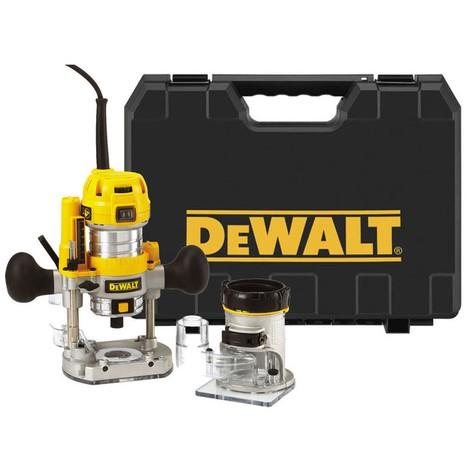DeWALT D26204K Défonceuse multifonctions affleureuse Ø 8 mm - 900 W avec coffret