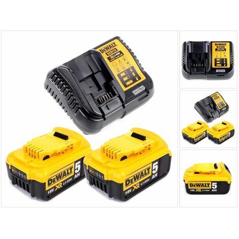 Dewalt DCB 113 P2 Chargeur 18V + 2x DCB184 Batteries 5,0Ah