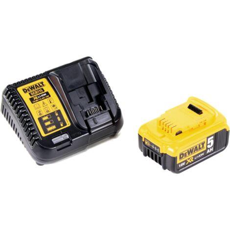 Dewalt DCB 184 Batterie 18 V 5 Ah / 5000 mAh XR Li-Ion + Chargeur Dewalt DCB 115 XR