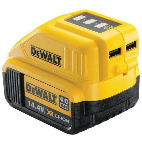 Dewalt DCB090 2 x USB Port Battery Charger for 14.4v 18v XR Lithium Batteries