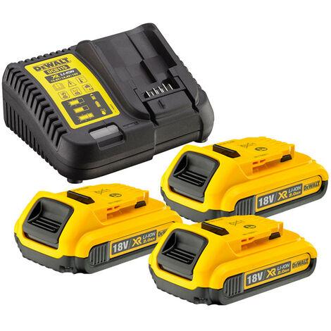 Dewalt DCB115 Charger & 3 x DCB183 2.0ah 18v XR Li-ion Batteries