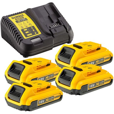 Dewalt DCB115 Charger & 4 x DCB183 2.0ah 18v XR Li-ion Batteries
